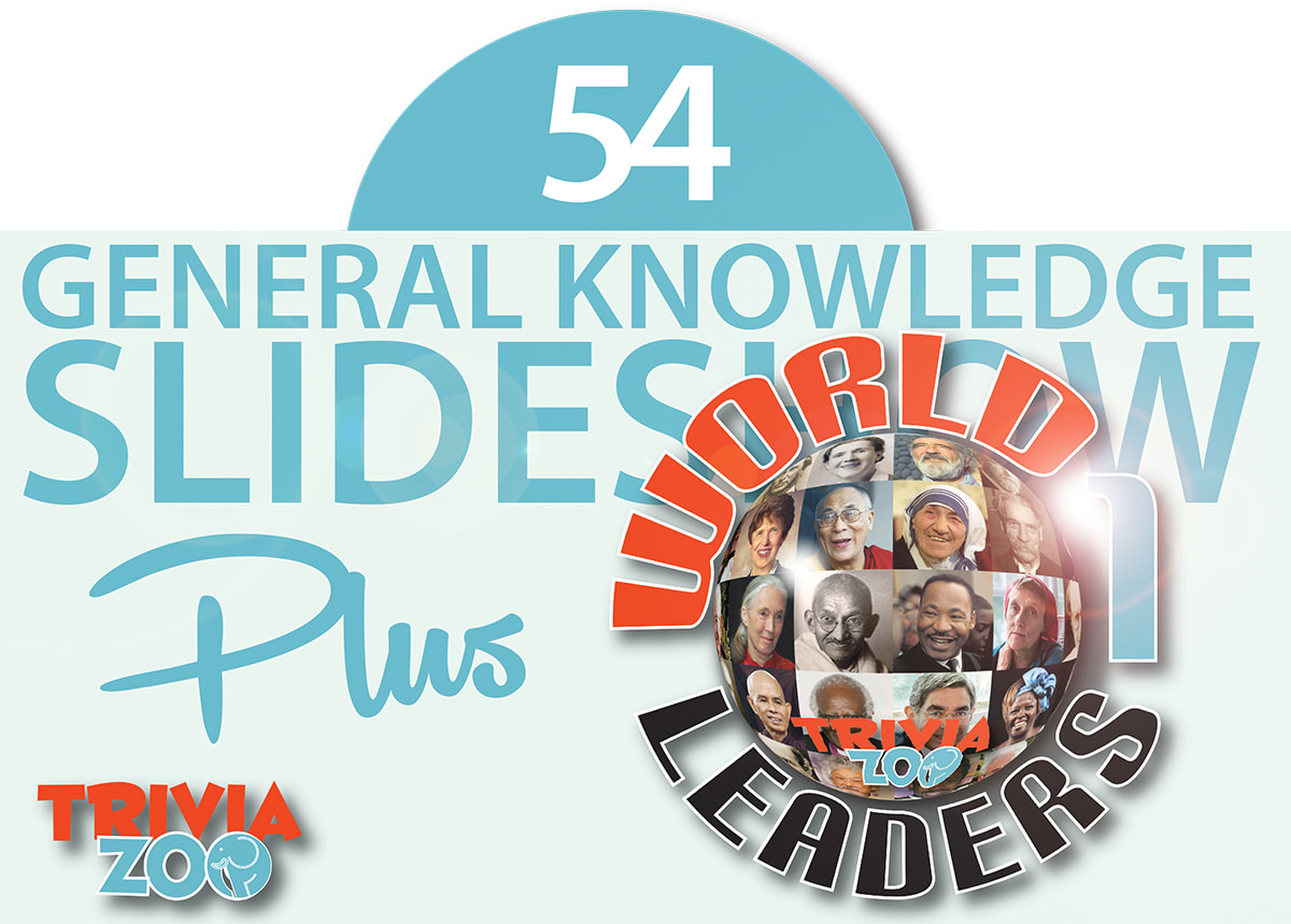 General knowledge BIG SCREEN trivia slideshows - all