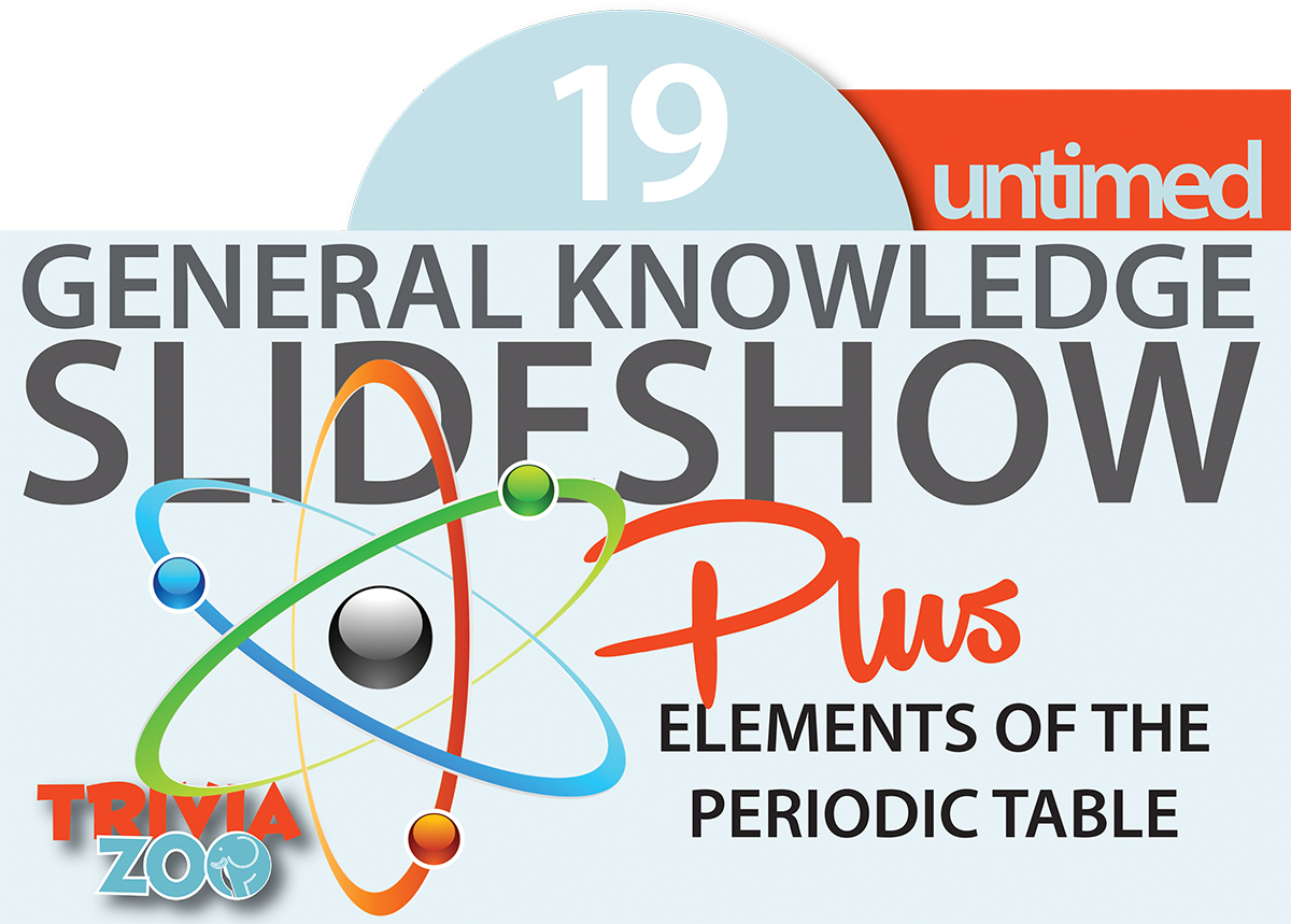 Trivia zoo big screen trivia 19 slideshow 19u general knowledge quiz novelty round elements of the periodic table urtaz Image collections